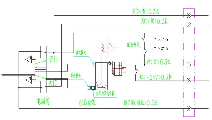 气缸检测开关电路图