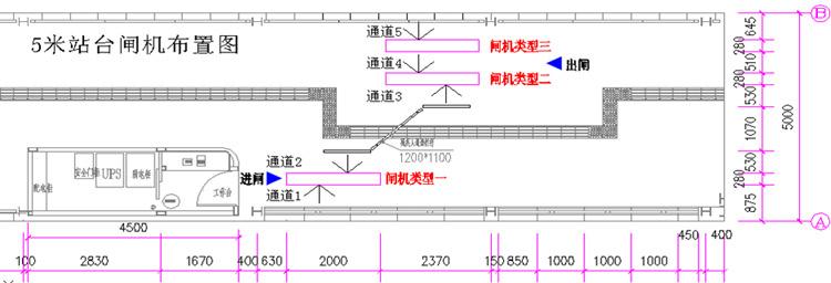 闸机为双向闸机,闸机通道宽度不大于520mm